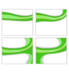 green wave - business templates vector image