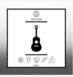 Guitar symbol icon vector