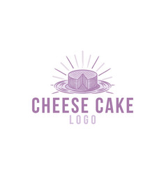hand drawn cheese cake logo designs inspiration vector image