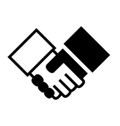 Handshake Simple Icon on White Background vector