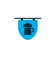 Hanging banner icon colored symbol premium vector