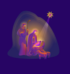 holy night of birth of christ vector image