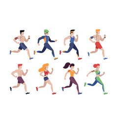 jogging people people outdoor activity vector image