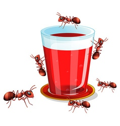 Juice and ants vector