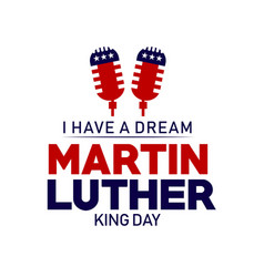 Martin luther king day template design vector