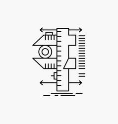 measure caliper calipers physics measurement line vector image