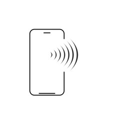 mobile wireless charging line icon smartphone vector image