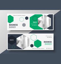 Modern geometric business banners set template vector