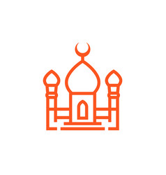 Mosque icon in linear style vector