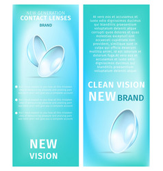 New generation clean vision vertical banner set vector