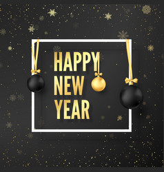 new year celebration new year greeting card vector image