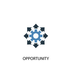 Opportunity concept 2 colored icon simple blue vector