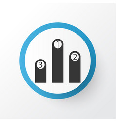Pedestal icon symbol premium quality isolated vector