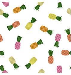 pineapple random patter tropical fruit texture vector image