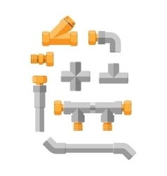 Pipes icons isolated vector image