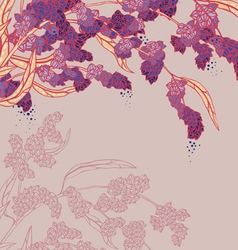 Plant branch on pink vector image