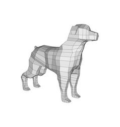 polygonal dog vector image
