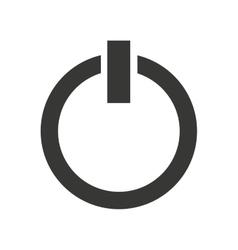 power button start icon vector image