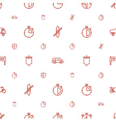 Race icons pattern seamless white background vector