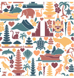 Seamless background with traditional symbols vector