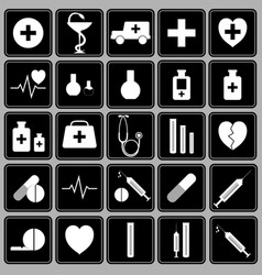 set of icons on a medical theme vector image
