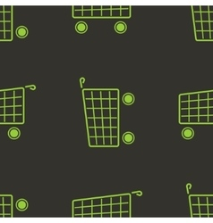 shopping cart seamless pattern Marketing vector image