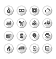 Shopping flat icons set 01 vector