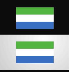 sierra leone flag banner design vector image