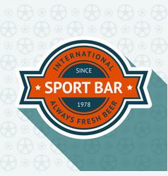 Soccer pub badge vector