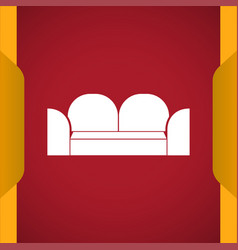 Sofa icon for web and mobile vector