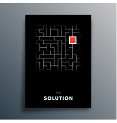 solution abstract typography design for poster vector image