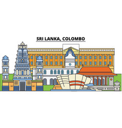 sri lanka colombo city skyline architecture vector image