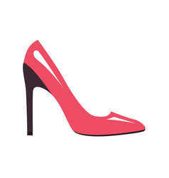 Stylish pink stilleto shoe isolated vector