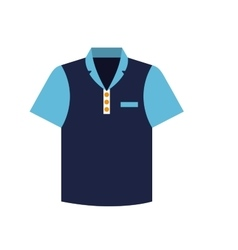 tennis blue tshirt graphic icon vector image