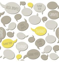 Thank you speech bubbles vector