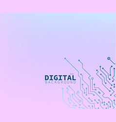 true digital pink and blue circuit board concept vector image