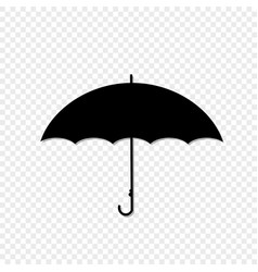 umbrella side view icon isolated on transparent vector image