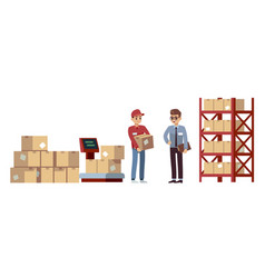 Warehouse elements operations acceptance vector