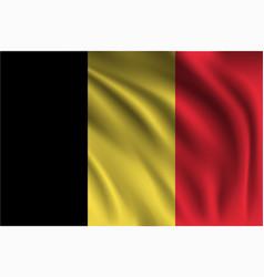 Waving belgium vector