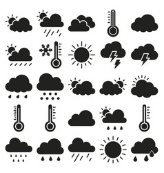 Weather material icons set that can easily vector