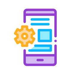 Web site adaptive for phone icon outline vector