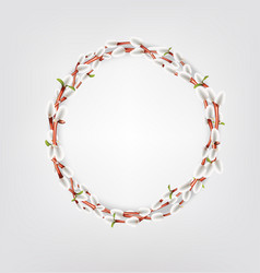 Wreath made of willow twigs willow twigs round vector