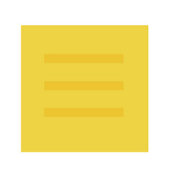 yellow sticker flat isolated vector image
