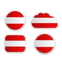 Austria flag labels vector image vector image