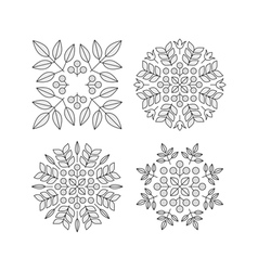 Floral Elements Printing for Natural Products vector image vector image