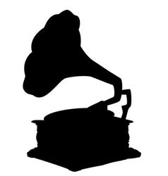 gramophone retro vector image