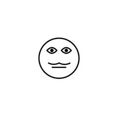 moustache emotion icon vector image