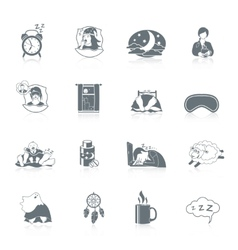 Sleep Time Icon Set vector image