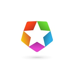 Abstract star logo icon design template elements vector image