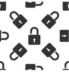 open padlock icon iseamless pattern lock symbol vector image